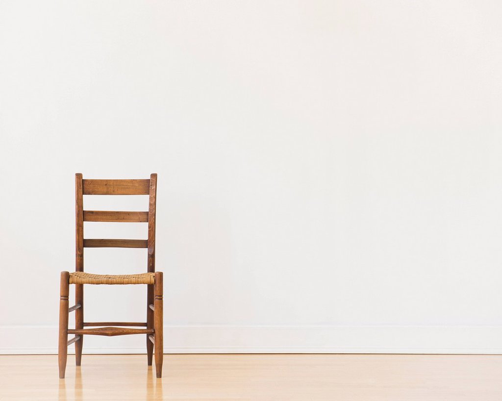Studio shot of old chair : Stock Photo