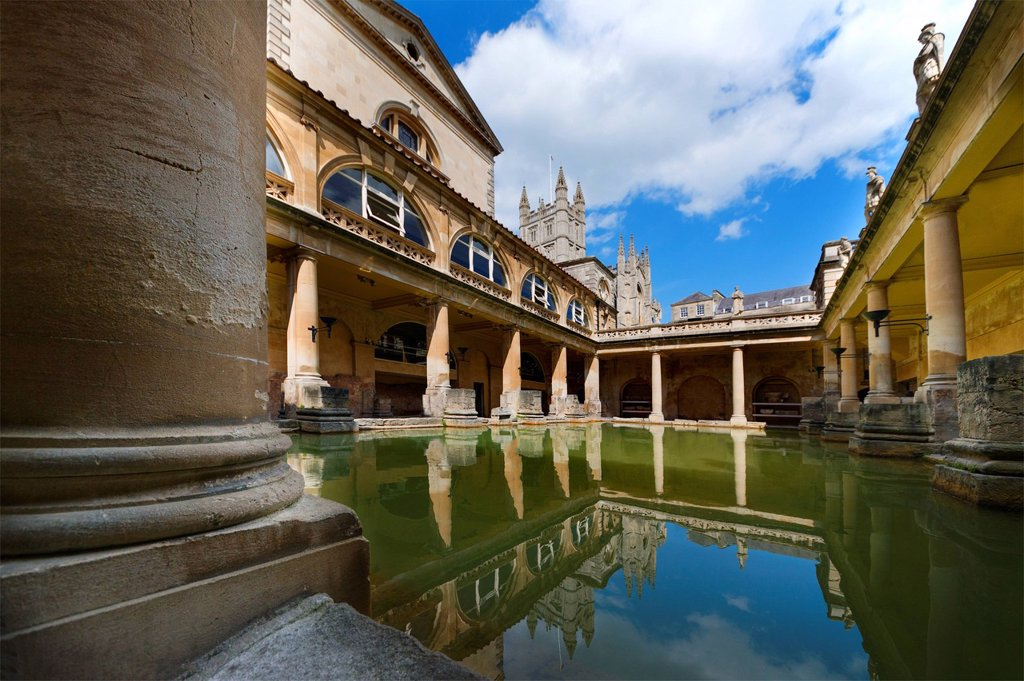 UK, Somerset, Bath, Roman Baths : Stock Photo
