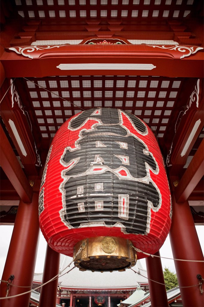 Stock Photo: 1795R-71605 Japan, Tokyo, Asakusa, Senso_Ji Temple, low angle view of paper lantern