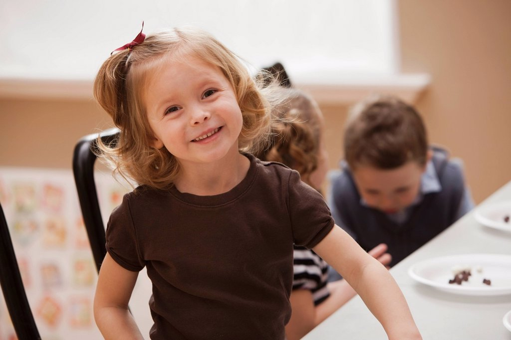 Stock Photo: 1795R-71812 Portrait of girl 2_3 in kindergarten
