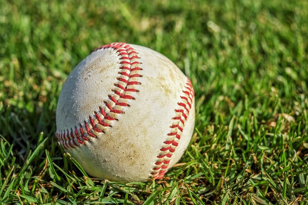Stock Photo: 1795R-71927 Baseball on grass