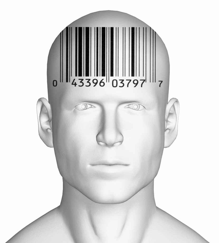 Stock Photo: 1795R-72041 Conceptual image representing personal identity