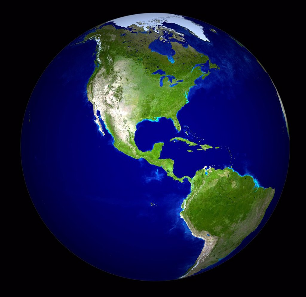 Digitally generated image of planet earth : Stock Photo