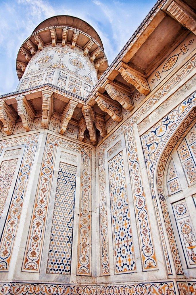 India, Uttar Pradesh, Agra, Itmad_ud_Daula´s Tomb or Baby Taj : Stock Photo
