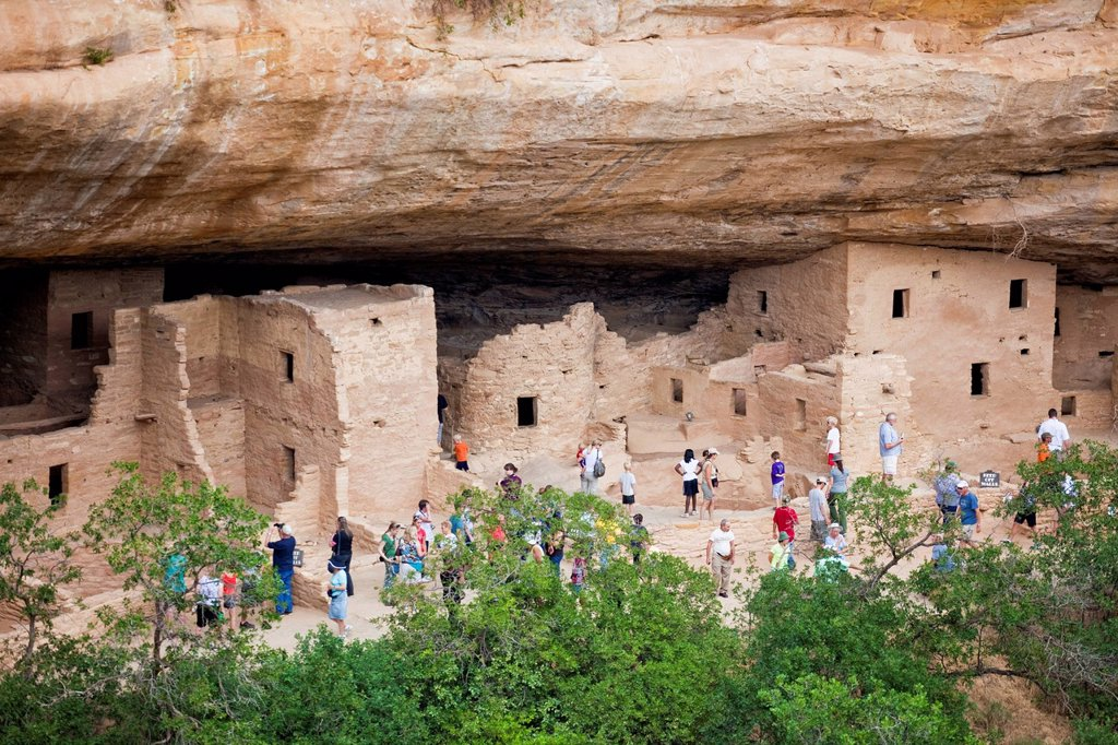 Stock Photo: 1795R-73749 USA, Colorado, Mesa Verde National Park, Spruce Tree House