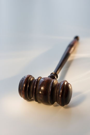 Stock Photo: 1795R-7382 Close up of judge's gavel