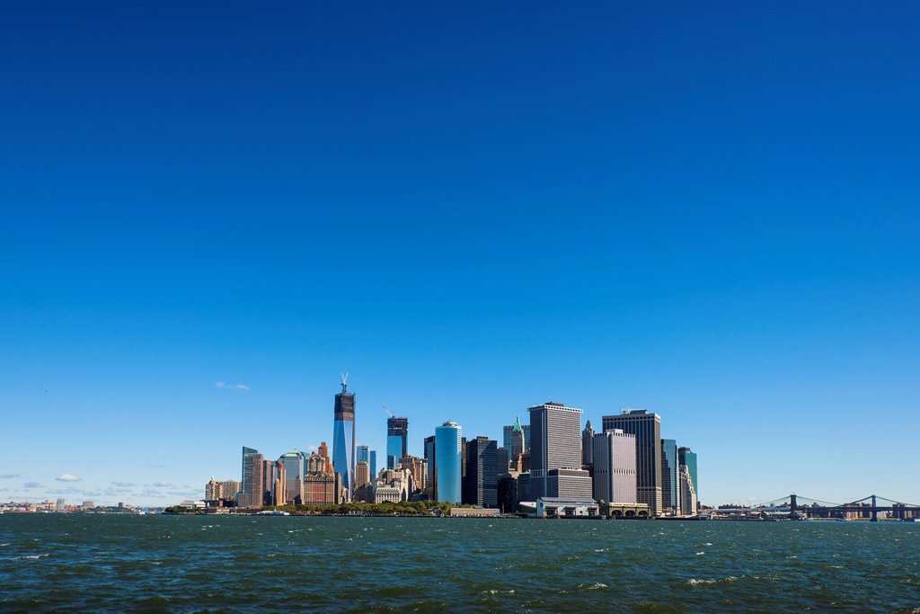 Stock Photo: 1795R-74411 Panoramic view of Lower Manhattan