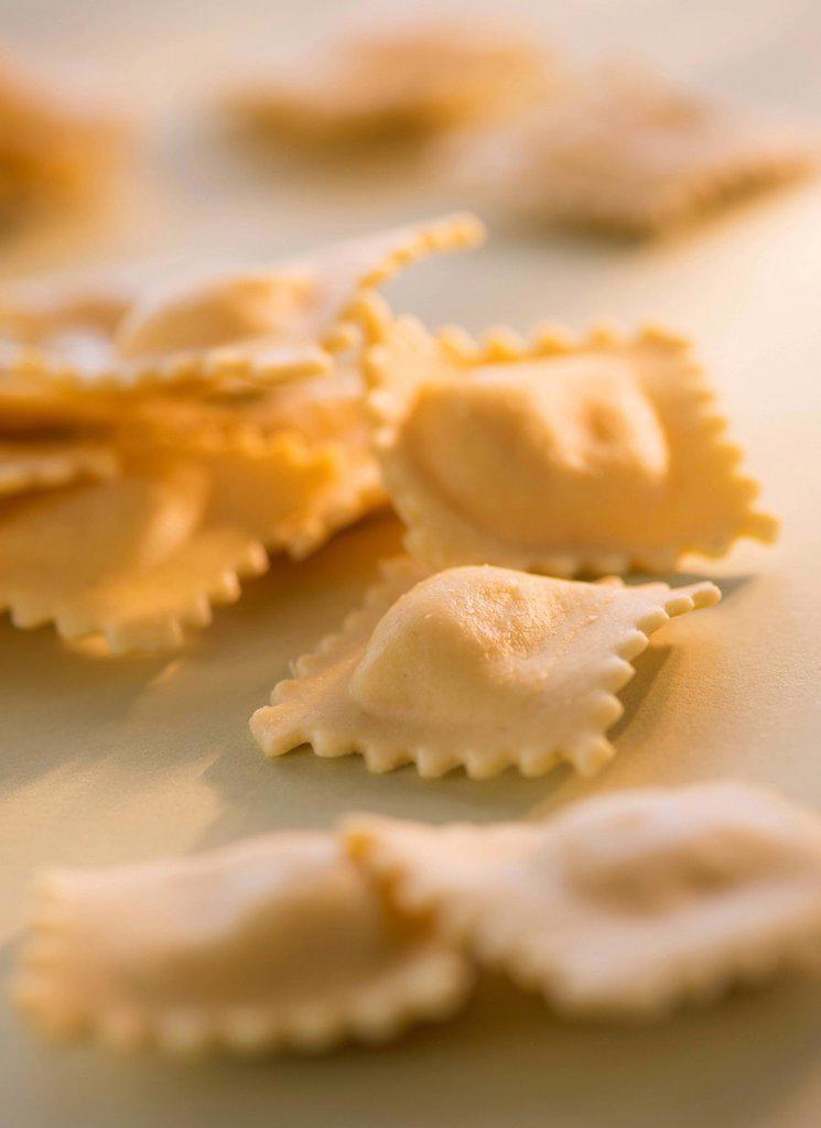 Stock Photo: 1795R-75579 Studio Shot of ravioli