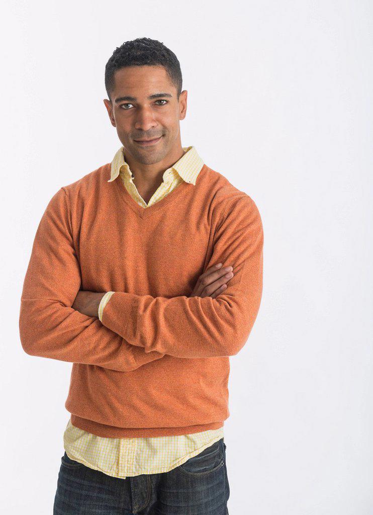 Portrait of smiling man, studio shot : Stock Photo