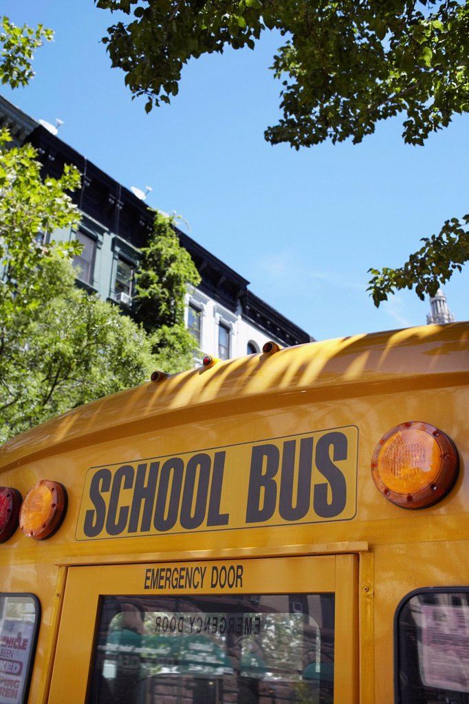 Stock Photo: 1795R-77004 Part of school bus