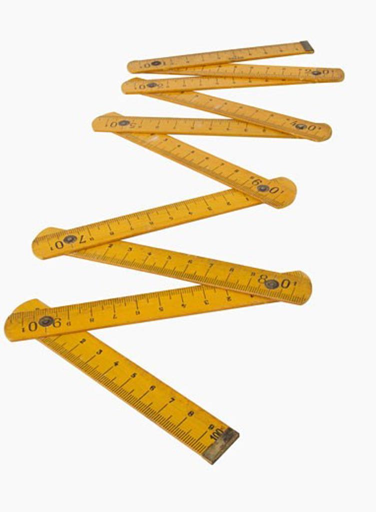 Stock Photo: 1795R-8648 Close up of folding ruler