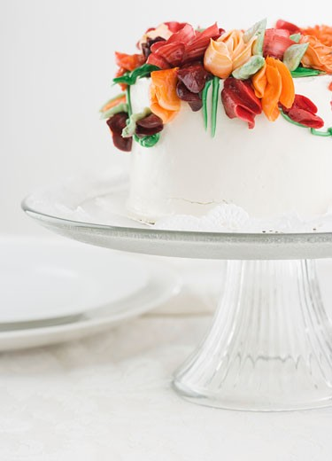 Side view of a colorful cake : Stock Photo