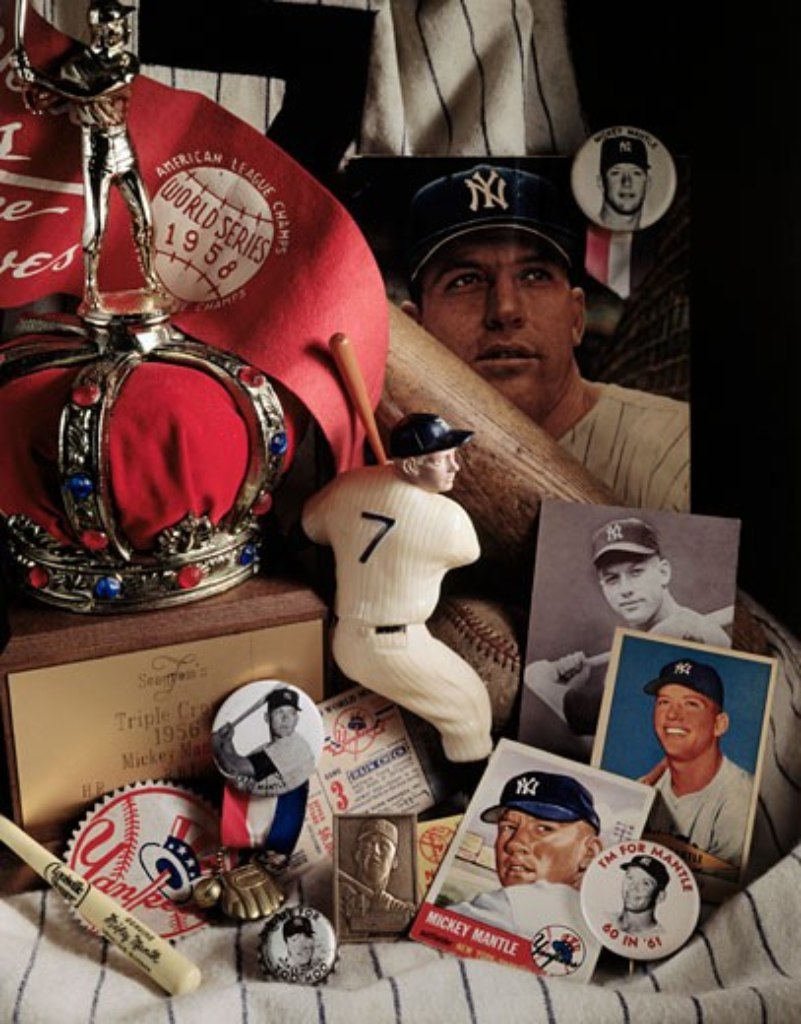Close-up of baseball souvenirs : Stock Photo