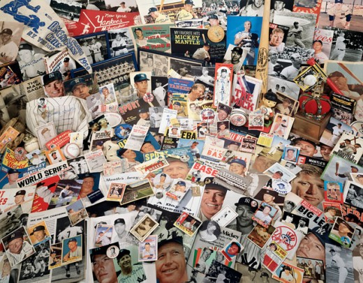 Stock Photo: 18-498 Close-up of baseball souvenirs