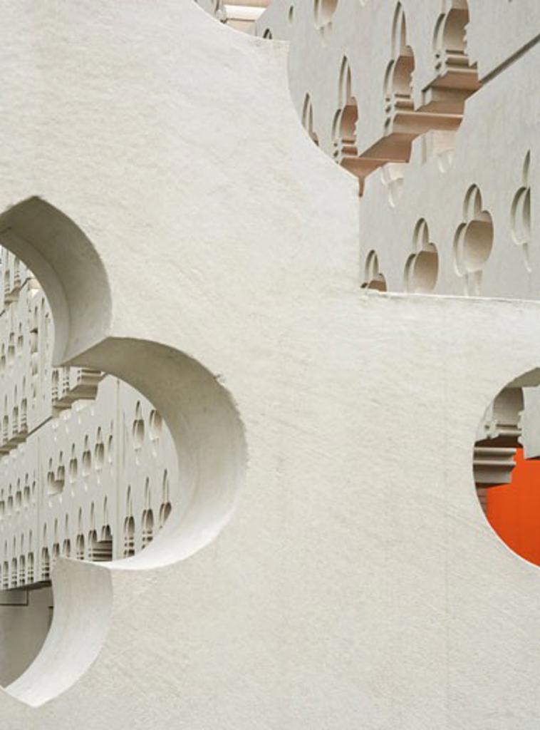 SINT LUCAS ART ACADEMY, BOXTEL, NETHERLANDS, PATTERNED WALL, FAT ARCHITECTS : Stock Photo