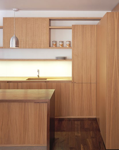 Stock Photo: 1801-11434 ROUGH HILL APPARTMENT, LONDON, W11 NOTTING HILL, UNITED KINGDOM, SIDE VIEW KITCHEN, FOSTER LOMAS ARCHITECTS