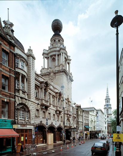 LONDON COLISEUM, ST MARTINS LANE, LONDON, UNITED KINGDOM, OBLIQUE VIEW, FRANK MATCHAM : Stock Photo