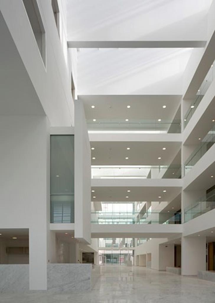 CORK CIVIC OFFICES, CORK, IRELAND, ATRIUM, ABK ARCHITECTS : Stock Photo