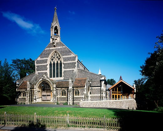 EMMANUEL CHURCH, NORMANTON ROAD, SOUTH CROYDON, SURREY, UNITED KINGDOM, EXTERIOR, INITIATIVES IN DESIGN : Stock Photo