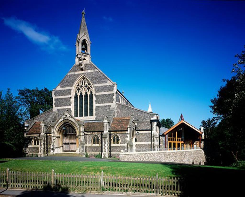Stock Photo: 1801-14910 EMMANUEL CHURCH, NORMANTON ROAD, SOUTH CROYDON, SURREY, UNITED KINGDOM, EXTERIOR, INITIATIVES IN DESIGN