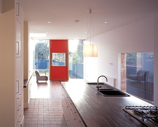 Stock Photo: 1801-16037 PRIVATE HOUSE, LONDON, N13 PALMERS GREEN, UNITED KINGDOM, INTERIOR OVERVIEW, PLASTIK ARCHITECTS