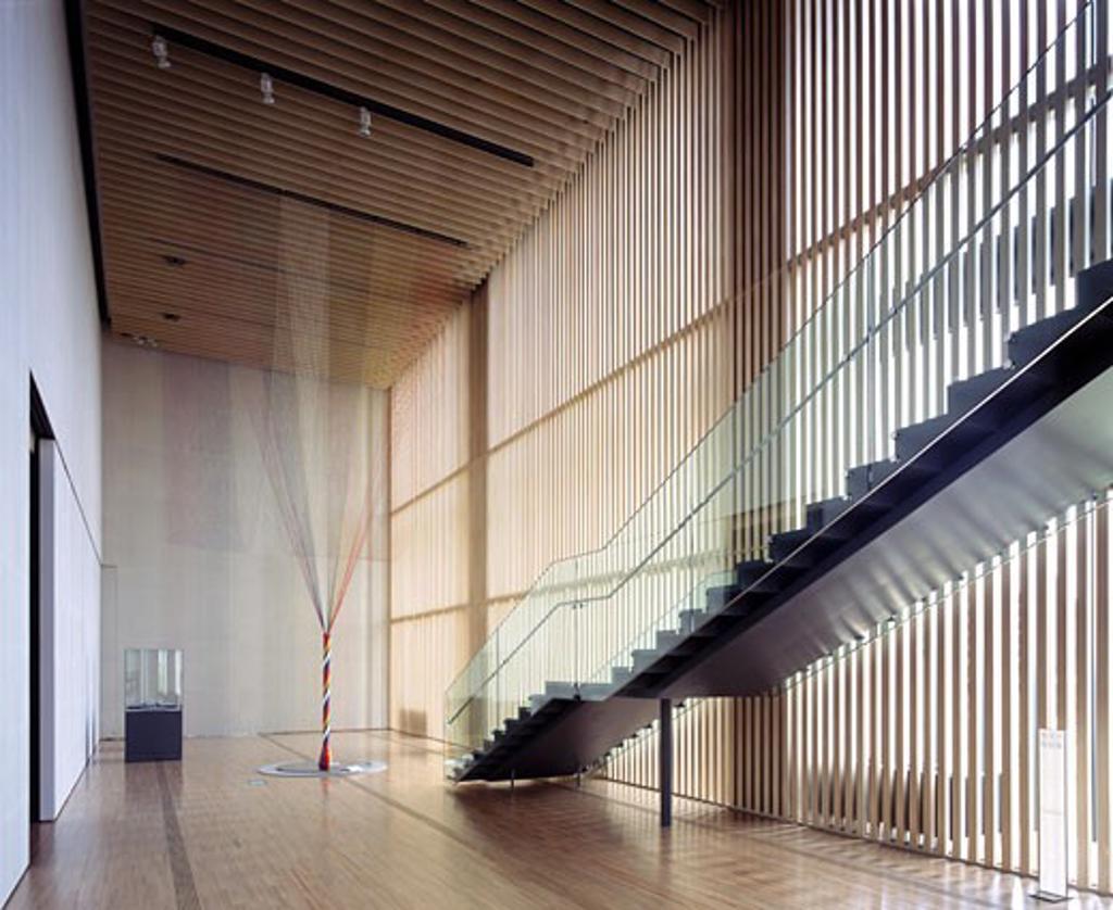 SUNTORY MUSEUM OF ART, TOKYO MID TOWN, TOKYO, JAPAN, OVERALL INTERIOR VIEW, KENGO KUMA & ASSOCIATES : Stock Photo