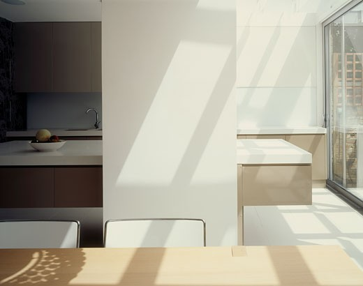 PRIVATE HOUSE, WIMBLEDON, LONDON, SW19 WIMBLEDON, UNITED KINGDOM, DETAIL TO KITCHEN, LEVITATE : Stock Photo