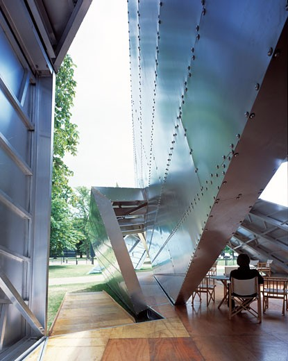 Stock Photo: 1801-17285 SERPENTINE GALLERY PAVILION, KENSINGTON GARDENS, LONDON, W2 PADDINGTON, UNITED KINGDOM, DETAIL, DANIEL LIBESKIND