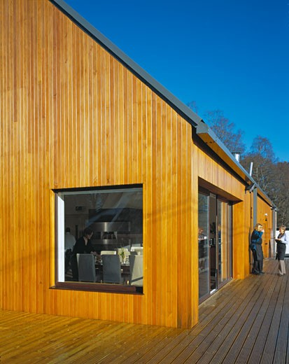Stock Photo: 1801-17400 NICK NAIRN COOK SCHOOL, LAKE OF MENTEITH, PORT OF MENTEITH, STIRLINGSHIRE, UNITED KINGDOM, FRONT ELEVATION FROM SIDE, LISA LE-GROVE