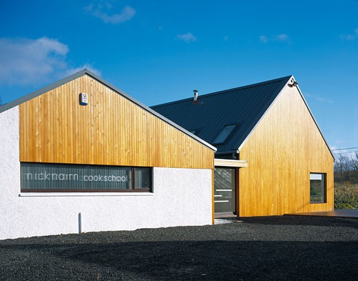 NICK NAIRN COOK SCHOOL, LAKE OF MENTEITH, PORT OF MENTEITH, STIRLINGSHIRE, UNITED KINGDOM, EXTERIOR, LISA LE-GROVE : Stock Photo