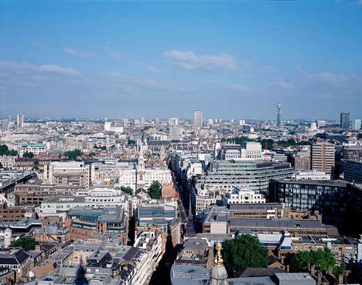 GENERAL LONDON VIEW, LONDON, EC1 CLERKENWELL, UNITED KINGDOM, LONDON FROM ST. PAULS, LONDON GENERAL VIEWS : Stock Photo