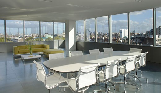 Stock Photo: 1801-20397 MET BUILDING, PERCY STREET, LONDON, WC1 BLOOMSBURY, UNITED KINGDOM, VIEW OF MEETING AREA TO VISTA, VIEW 2, ORMS