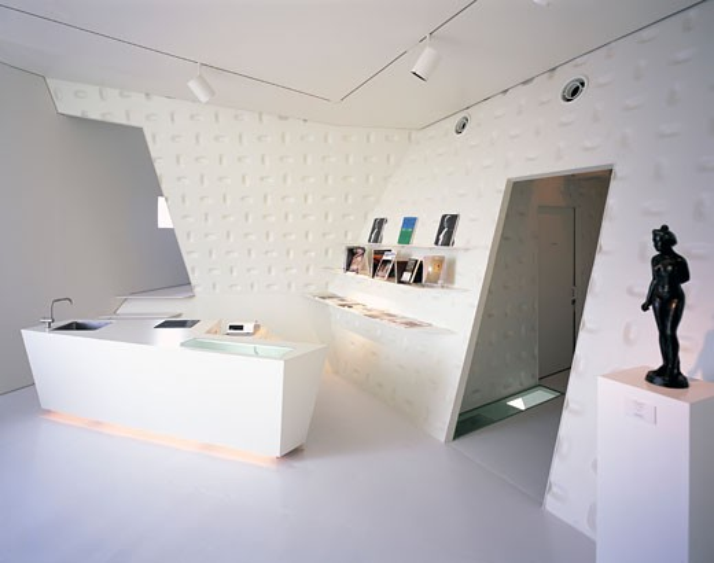 KANO MUSEUM, SENDAI, JAPAN, INTERIOR VIEW - RECEPTION AREA, ATELIER HITOSHI ABE : Stock Photo
