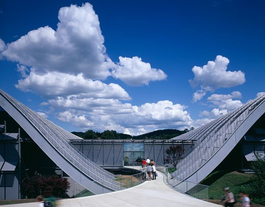 ZENTRUM PAUL KLEE, BERN, SWITZERLAND, ENTRANCE, RENZO PIANO BUILDING WORKSHOP : Stock Photo