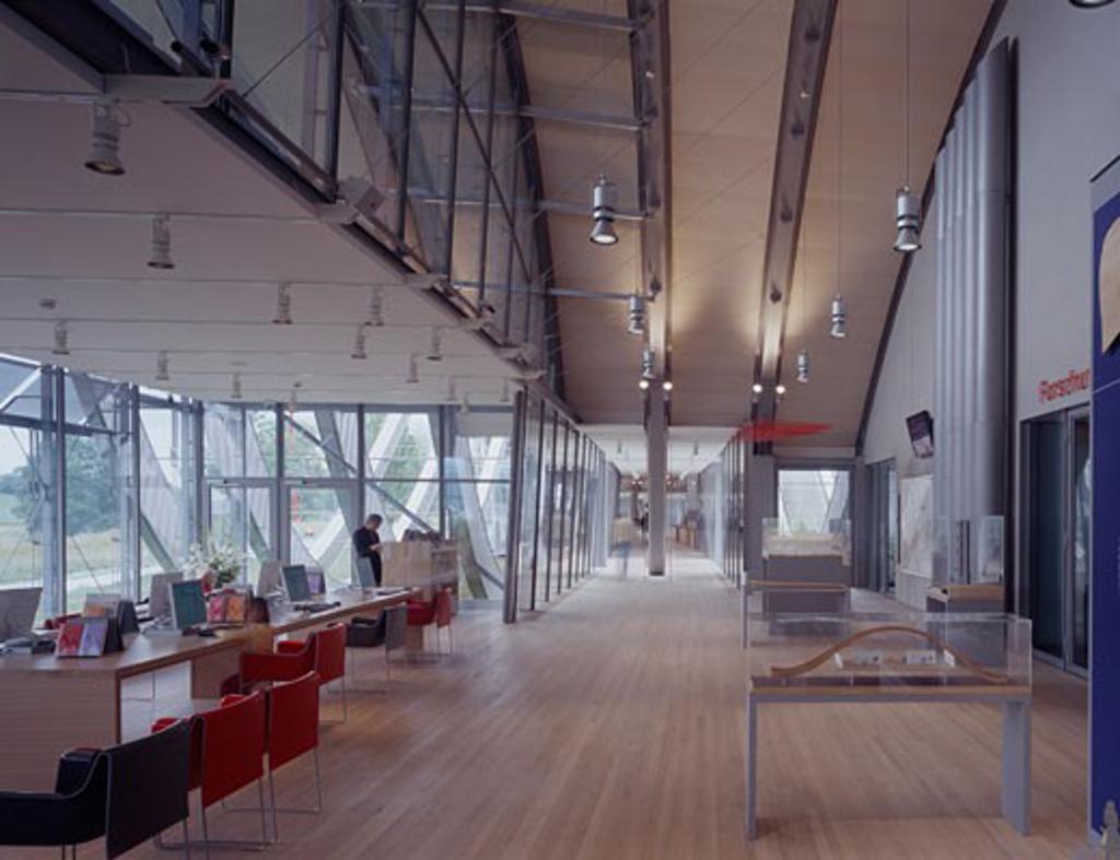 ZENTRUM PAUL KLEE, BERN, SWITZERLAND, STUDY AREA, RENZO PIANO BUILDING WORKSHOP : Stock Photo