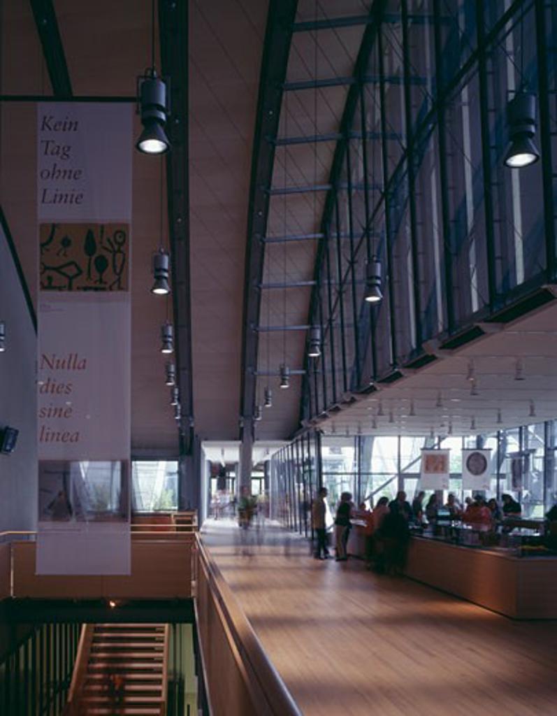 ZENTRUM PAUL KLEE, BERN, SWITZERLAND, BOOKSHOP, RENZO PIANO BUILDING WORKSHOP : Stock Photo