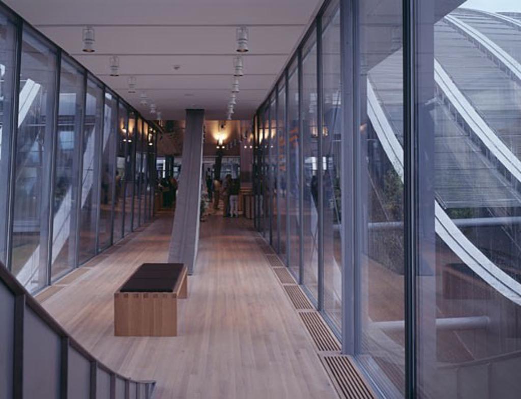 ZENTRUM PAUL KLEE, BERN, SWITZERLAND, MUSUEM STREET, RENZO PIANO BUILDING WORKSHOP : Stock Photo