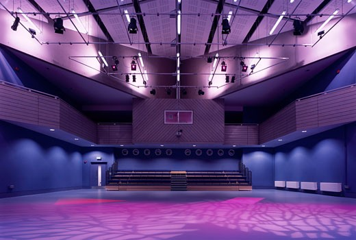 TOWNLEY GRAMMAR SCHOOL, BEXLEY ROAD, BEXLEY, KENT, UNITED KINGDOM, PERFORMING ARTS STUDIO, STUDIO E ARCHITECTS : Stock Photo