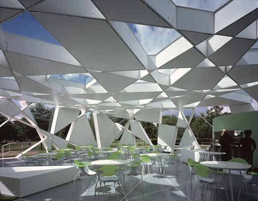 SERPENTINE GALLERY PAVILION, KENSINGTON GARDENS, LONDON, W2 PADDINGTON, UNITED KINGDOM, VIEW INSIDE THE PAVILION, TOYO ITO : Stock Photo