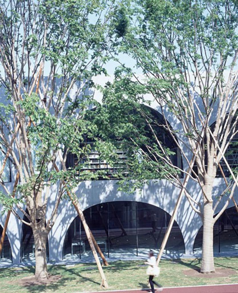 TAMA ART UNIVERSITY LIBRARY, TOKYO, JAPAN, TOYO ITO : Stock Photo