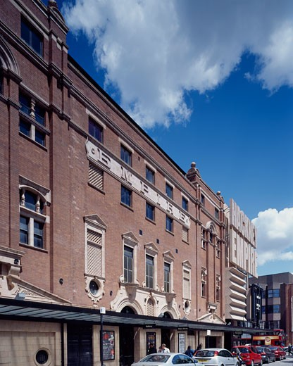 HACKNEY EMPIRE, MARE STREET, LONDON, E8 HACKNEY, UNITED KINGDOM, SOUTH ELEVATION, TIM RONALDS ARCHITECTS : Stock Photo