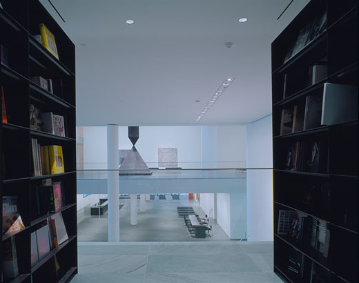 MUSEUM OF MODERN ART, 53RD STREET, NEW YORK, NEW YORK, UNITED STATES, READING ROOM TO LOBBY, YOSHIO TANIGUCHI AND ASSOCIATES : Stock Photo