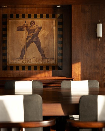 Stock Photo: 1801-31533 Maid marian 2 detail of dining chairs and artwork., Maid Marian, Phuket, Changwat, Thailand, Flux Interiors
