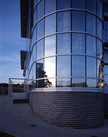 Stodilky office daytime exterior., Stodilky Office, Praque, Czech Republic, Lewis Hickey Architects : Stock Photo
