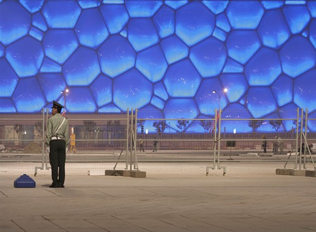 National aquatics centre water cube bubble., National Aquatics Centre, Beijing, China, Ptw Architects : Stock Photo