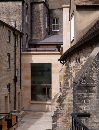 Taylor library corpus christi college cambridge., Taylor Library Corpus Christi College Cambridge, Cambridge, Cambridgeshire, United Kingdom, Wright and Wright Architects : Stock Photo