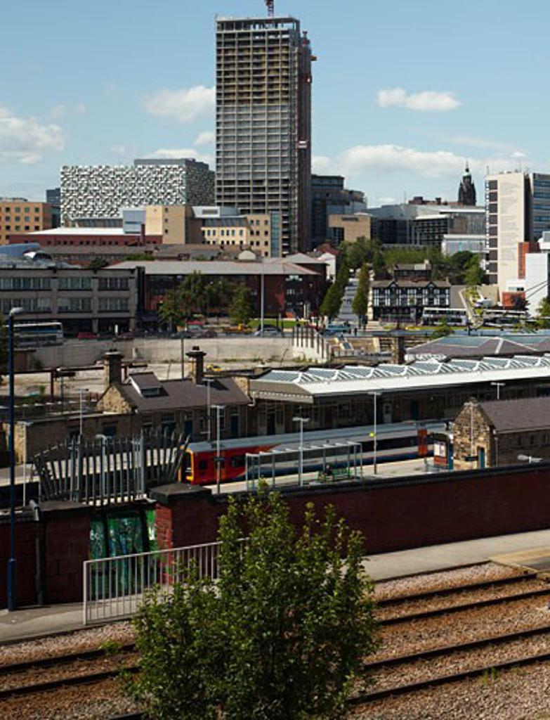Car Park Sheffield, Sheffield, United Kingdom, Allies and Morrison, Car park sheffield allies and morrison charles st city context. : Stock Photo