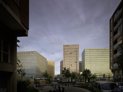 City of Justice, Barcelona, Spain, David Chipperfield, Justice center barcelona. : Stock Photo