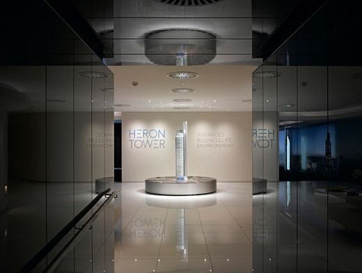 Heron Tower Marketing Suite, London, United Kingdom, Event Communication, Heron tower marketing suite interior view. : Stock Photo