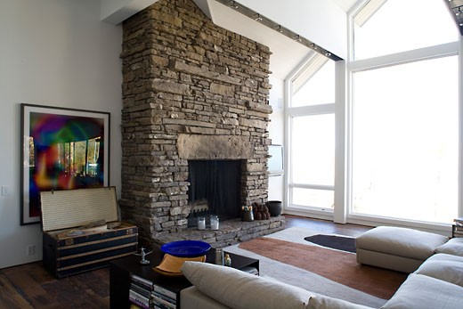 Stock Photo: 1801-38089 Snowmass village aspen colorado private house interior design fiona cowan.